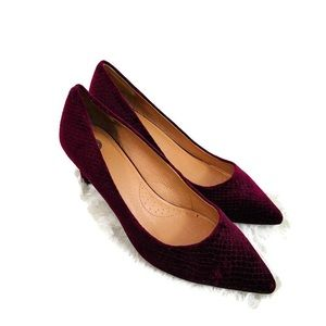 CB Dress Barn Beautiful Wine Velvet Pumps Heels
